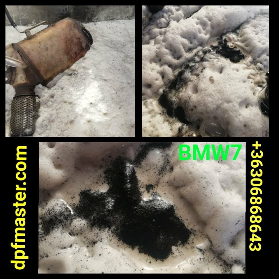 BMW 7-es részecskeszűrő tisztítása